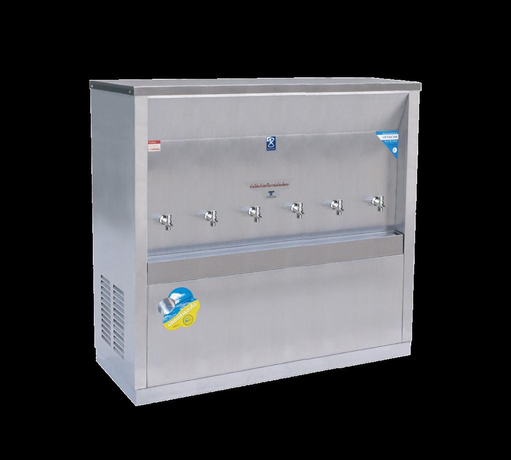 ตู้ทำน้ำเย็น 6 ก๊อก ต่อท่อ รังผึ้ง MC-6P